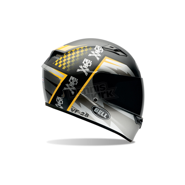 Bell Helmets Black/Silver/Yellow Qualifier Air Trix Battle Helmet - 7062044
