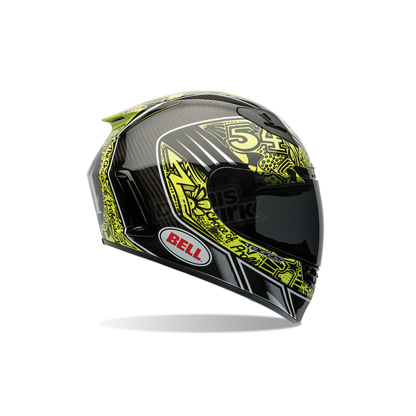 Bell Helmets Carbon/Gloss Black Star Carbon Tagger Designs Tagger Trouble Helmet - 7061590