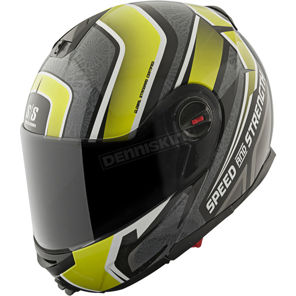 Speed and Strength Hi-Vis/Black/Grey Lock & Load SS1700 Helmet - 87-8771