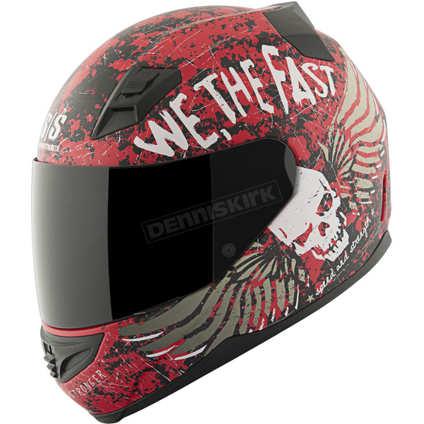 Speed and Strength Red/Black We The Fast SS1200 Helmet - 87-8786