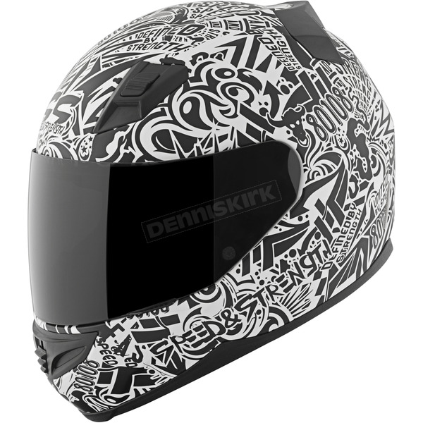 Speed and Strength White/Black United By Speed SS1200 Helmet - 87-8809