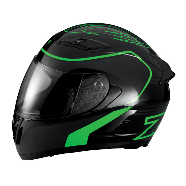 Z1R Black/Green Strike Ops Helmet - 0101-7948