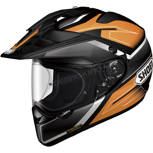 Shoei Helmets Orange/Black/White Hornet X2 Seeker TC-8 Helmet - 0124-1108-04