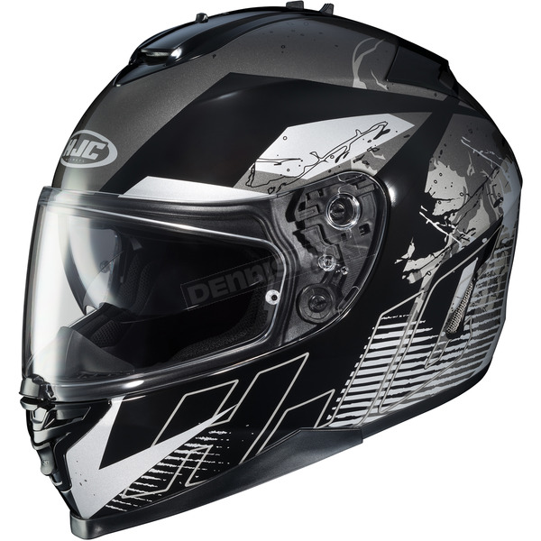 HJC Black/White/Gray IS-17 Blur MC-5 Helmet - 590-954