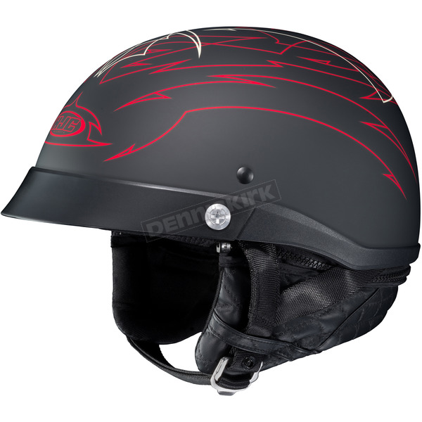HJC Black/Red CL-IronRoad Showboat MC-1F Helmet - 55-0812