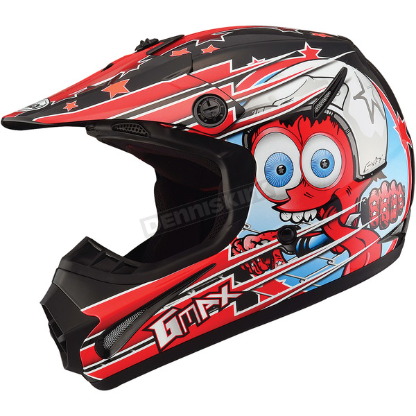 GMax Youth Black/Red GM46.2 Superstar Helmet - 72-6692YL