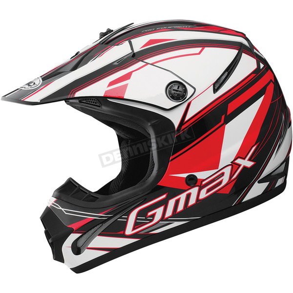 GMax Black/Red/White GM46.2 Traxxion Helmet - 72-6652M