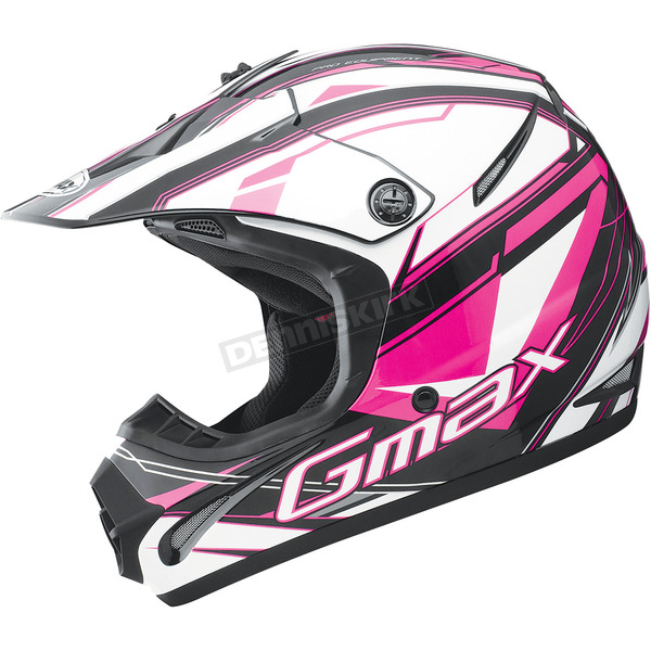 GMax Black/Pink/White GM46.2 Traxxion Helmet - 72-6659S