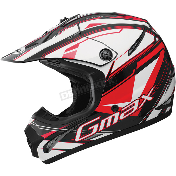 GMax Youth Black/Red/White GM46.2 Traxxion Helmet - 72-6652YS
