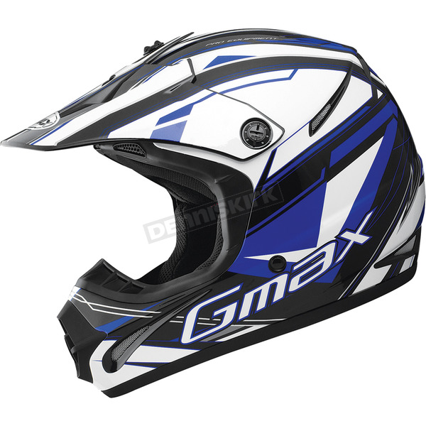 GMax Youth Black/Blue/White GM46.2 Traxxion Helmet - 72-6653YL