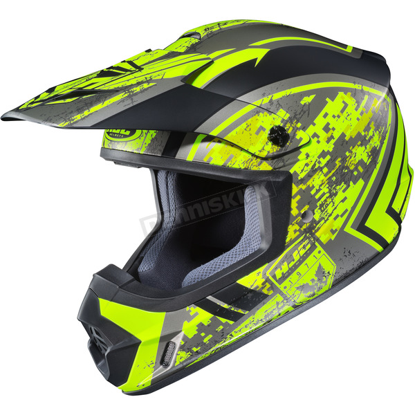 HJC Hi-Vis Yellow/Black MC-3HCS-MX 2 Squad Helmet - 55-5734