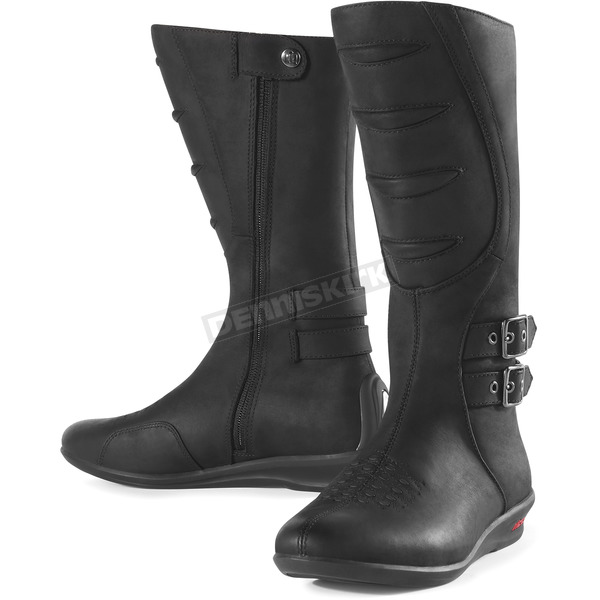 Icon Womens Black Sacred Tall Boots - 3403-0243