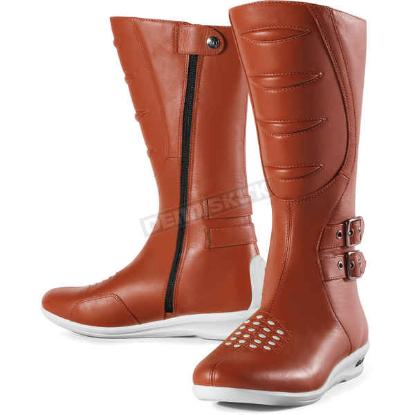 Icon Womens Brown Sacred Tall Boots - 3403-0254