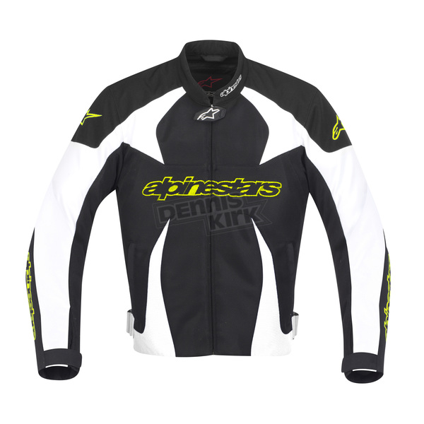 Alpinestars Black/White T-GP Plus Air Jacket w/Fluorescent Yellow - 3300112-125-L