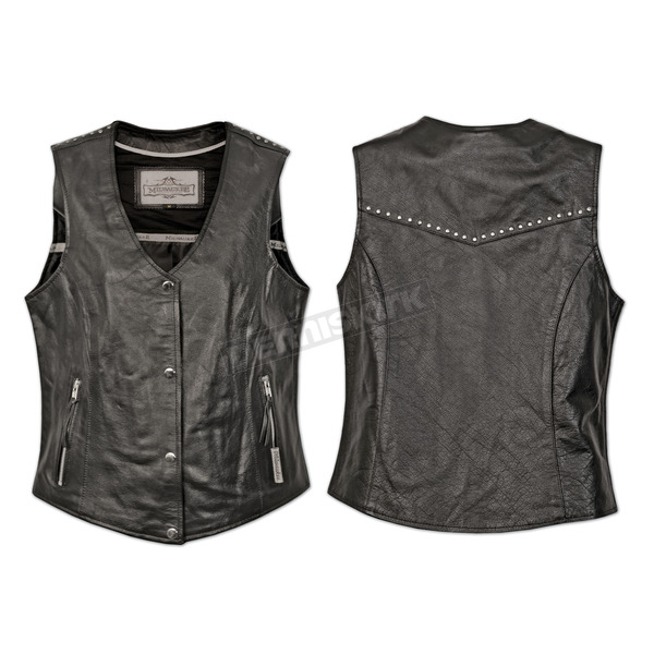 Milwaukee Motorcycle Clothing Co. Womens Black Darla Vest - MV3580XXL