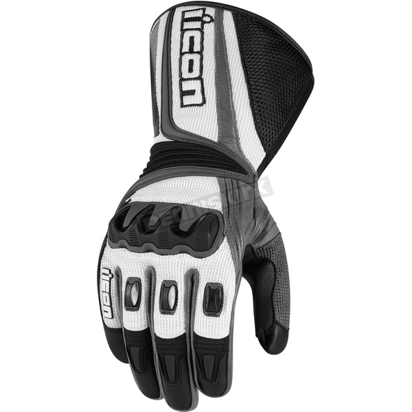 Icon Black/Gray Compound Mesh Long Gloves - 33011677