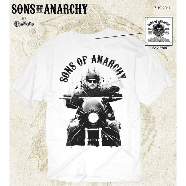 Sons of Anarchy Jax T-Shirt - 28-605-86WH-XXL