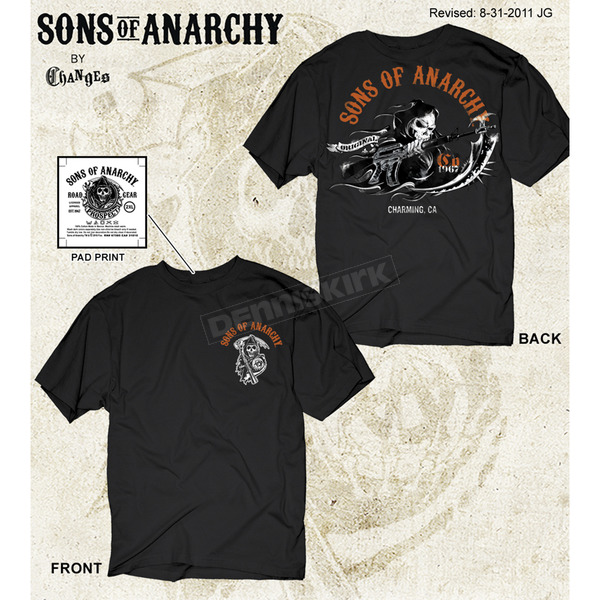 Sons of Anarchy Charging Reaper T-Shirt - 28-635-99BK-XXL