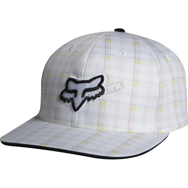 Fox White Gamma Flex-Fit Hat - 01156-008-L/XL