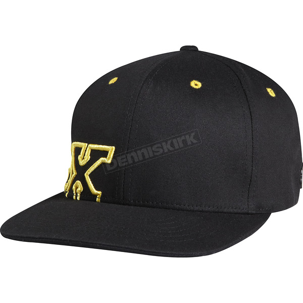 Fox Black Strapped Up Flex-Fit Hat - 68256-001-L/XL