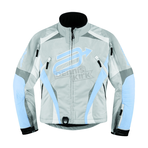 Arctiva Womens Gray/Blue Comp 7 Jacket - 3121-0301