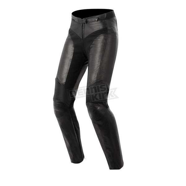 Alpinestars Womens Black Vika Leather Pants - 3135513-10-38