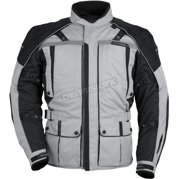 Tour Master Womens Silver/Black Transition 3 Jacket - 8777-0307-76