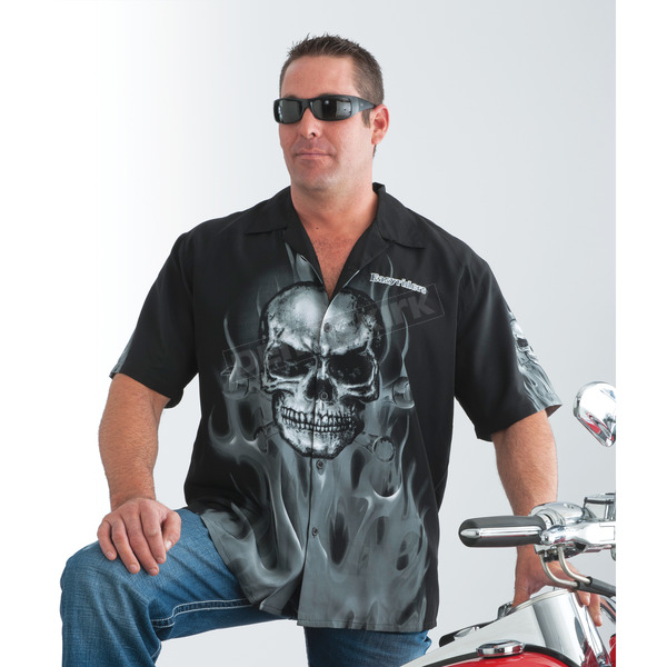 Easyriders Roadware Skull Wrench Dress Shirt - 6524M
