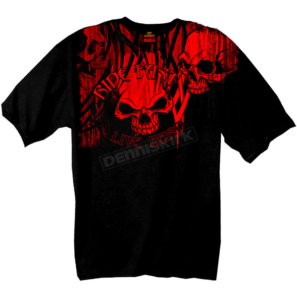 Hot Leathers Over The Top Skull T-Shirt - GMD1129L