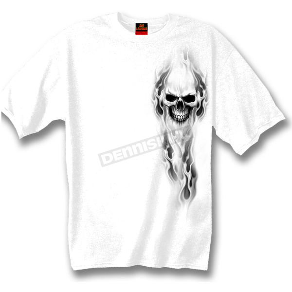 Hot Leathers Ghost Skull T-Shirt - GMD1080XXL