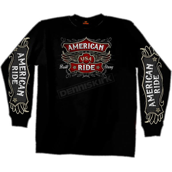 Hot Leathers American Ride Long Sleeve T-Shirt - GMD2172L