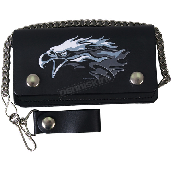 Hot Leathers Leather Bi-Fold Tribal Eagle 6 in. Wallet - WLB2010