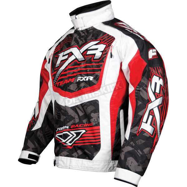 FXR Racing Red/White Strike Cold Cross Jacket - 13125