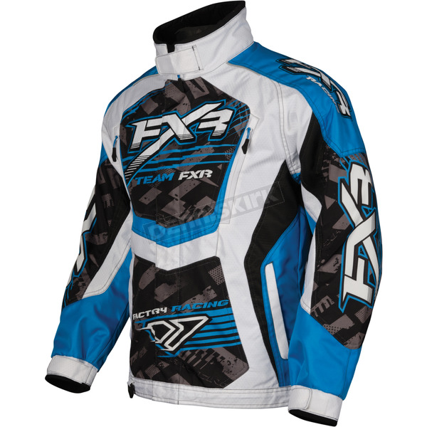 FXR Racing Womens Cyan/White Strike Cold Cross Jacket - 13215