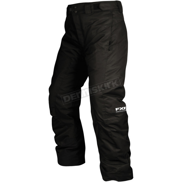 FXR Racing Childs Black Squadron Pants - 13350.10002
