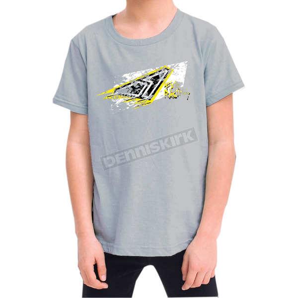 FXR Racing Youth Gray Grunge T-Shirt - 2938