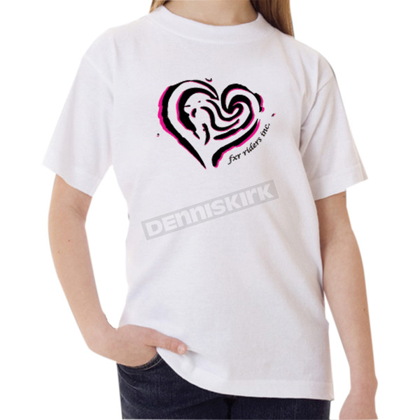 FXR Racing Childs White Heart T-Shirt - 2939