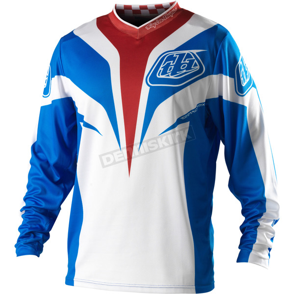 Troy Lee Designs Blue Grand Prix Mirage Jersey - 0743-0310