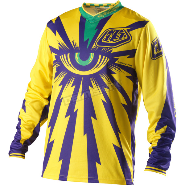 Troy Lee Designs Youth Yellow/Purple Grand Prix Cyclops Jersey - 0753-1506