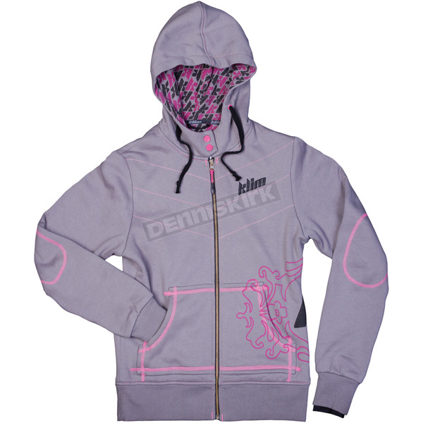 Klim Womens Gray Athena Hoody (Non-Current) - 6107-140