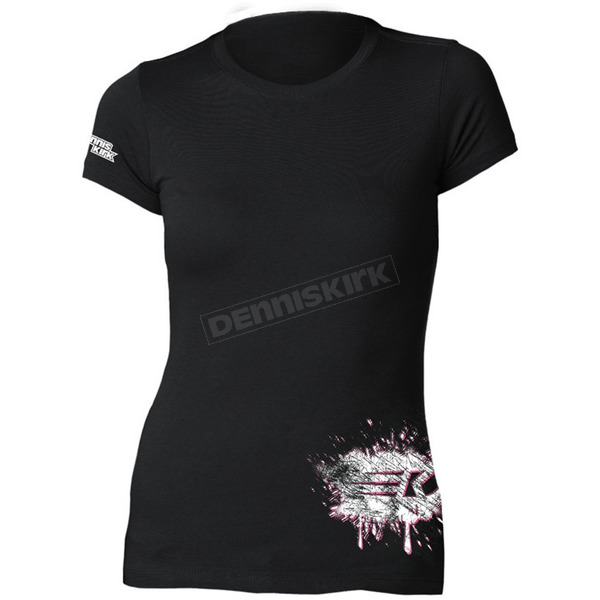 Dennis Kirk Inc. Womens Black Powderpuff T-Shirt - PPUFF T