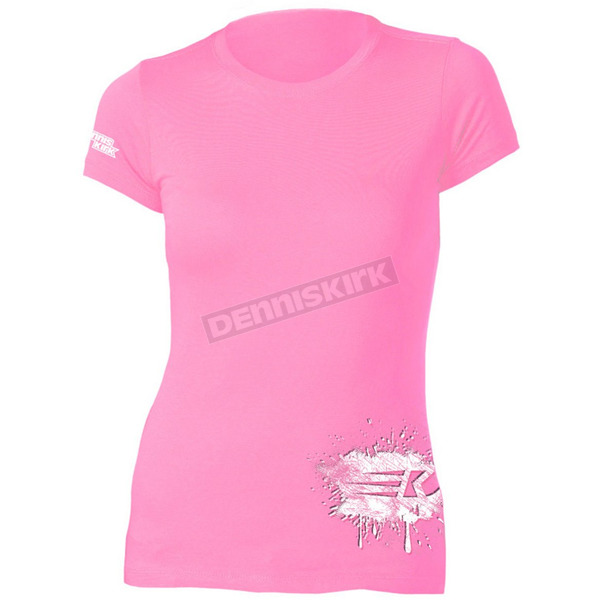 Dennis Kirk Inc. Womens Pink Powderpuff T-Shirt - PPUFF T