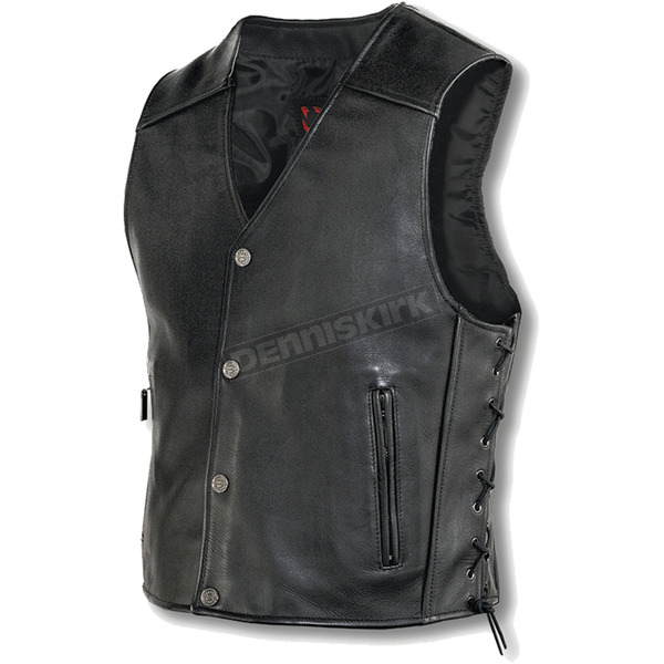 Milwaukee Motorcycle Clothing Co. Joker Leather Vest - M349XL