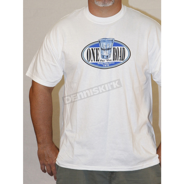 Easyriders Roadware White One For The Road T-Shirt - 5059L