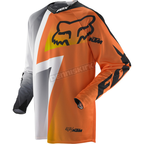 Fox White/Orange 360 KTM Jersey - 04277-061