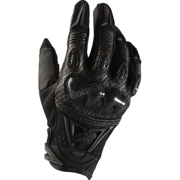 Fox Black/Black Bomber Gloves - 03009-021-2X