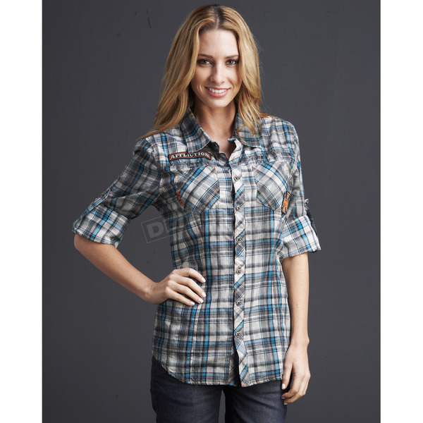 Affliction Womens Preston Flannel Shirt - 11WV427-L