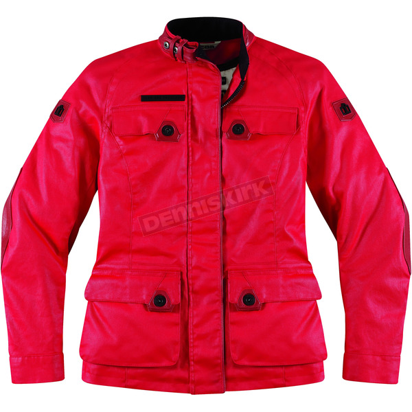 Icon Womens Mischief Red Akorp Jacket - 2822-0524