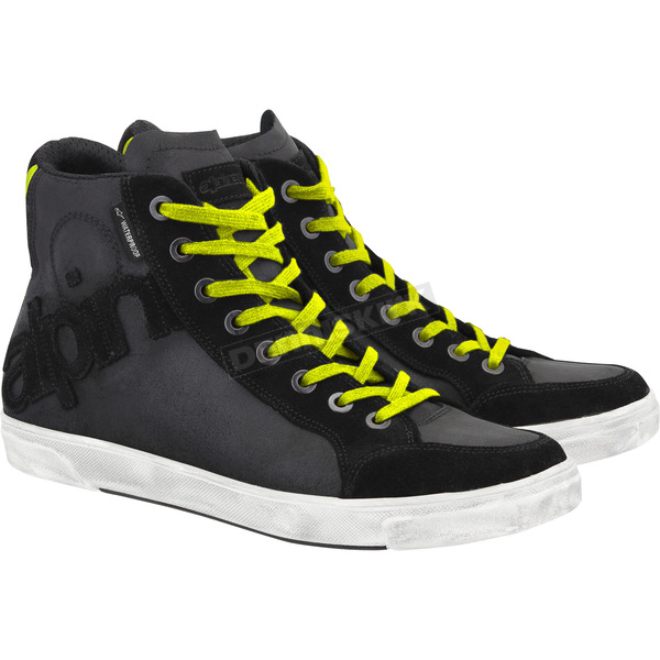 Alpinestars Black/Fluorescent Yellow Joey Waterproof Shoe - 2612013-155-10