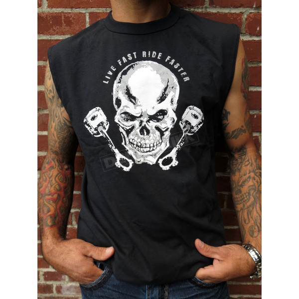 Sick Boy Motorcycles Live Fast Sleeveless T-Shirt - BLFSL-XXL